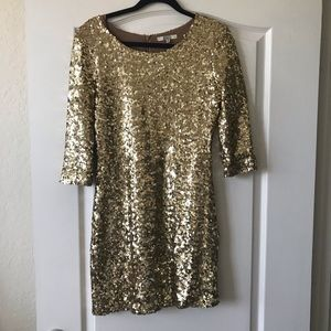 [BB Dakota] Gold Sequin Bodycon Dress